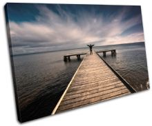 Pier Jetty Lake Sunset Seascape - 13-1827(00B)-SG32-LO